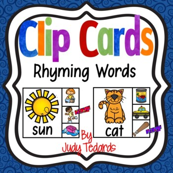 Rhyming Words Clip Cards