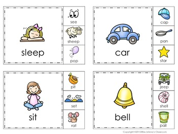 Rhyming Words Clip It Cards