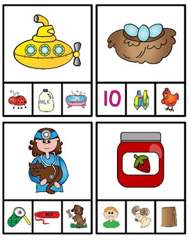 Rhyming Words Clip It Cards:  36 Cards