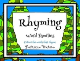 Rhyming Words Colouring Activity