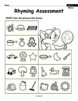 Rhyming Words (Common Core RF.K.2a)