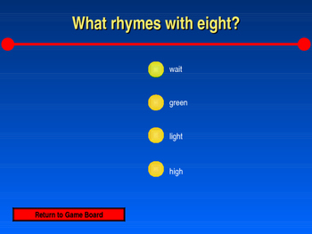 Rhyming Words : Connect Four Powerpoint Game