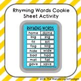 Rhyming Words Cookie Sheet Activity