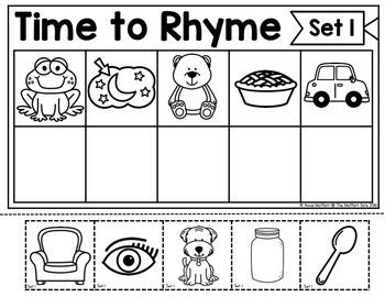 Rhyming Words (Cut and Paste): Phonemic Awareness