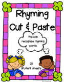 Rhyming Words Cut 'n Paste ~ Phonemic Awareness