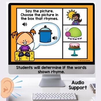 Rhyming Words Digital Task Cards