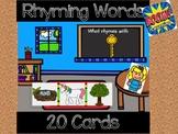 Rhyming Words: Digital Task Cards  ** Boom Cards **