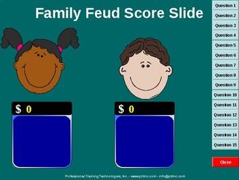 Rhyming Words Family Feud