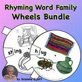 Rhyming Words Family Wheels Printable Bundle for home and