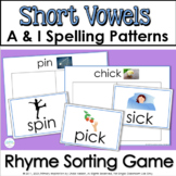Rhyming Short Vowel Words: Flip a Rhyme Game