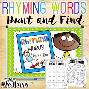 Rhyming Words Hunt & Find Game