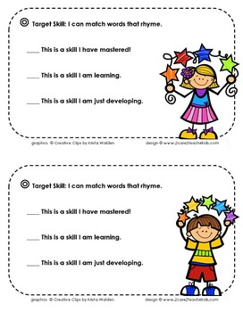 Rhyming Words ~ I Can Match Words That Rhyme!