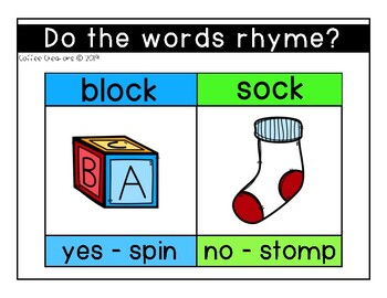 Rhyming Words Interactive Movement Game