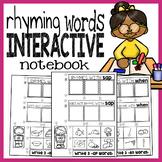Rhyming Words Interactive Notebook - Rhymes Worksheets