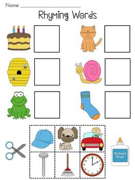 Collection of Cut And Paste Rhyming Worksheets - Sharebrowse