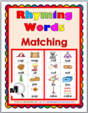 Rhyming Words Matching Activity Set 1