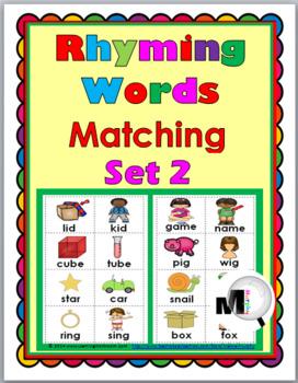 Rhyming Words Matching Set 2