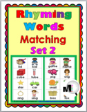 Rhyming Words Matching Activity - Set 2