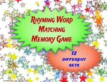 Rhyming Words Matching Game