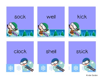 Rhyming Words Matching Game - Winter Theme
