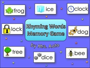 Rhyming Words Matching Game (with Bonus Card Game)