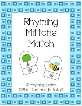 Rhyming Words Mitten Match