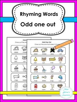 Rhyming Words Odd One Out- Special Education