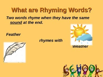 Rhyming Words PPT