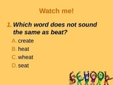Rhyming Words PPT