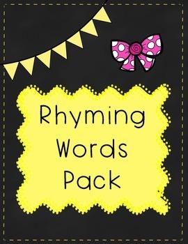 Rhyming Words Pack - CVC Pattern