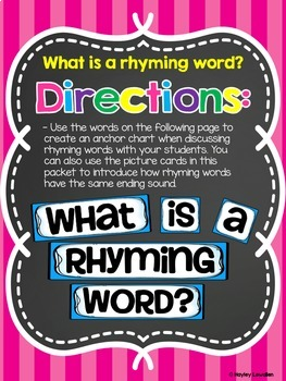 Rhyming Words Packet