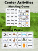 Rhyming Words Packet Pre K and Kindergarten