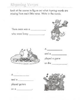 Rhyming Words Packet (grades 1-3)