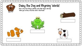 Rhyming Words Phonics Worksheets Handouts Pre K Kindergarten Sounds Like Skills
