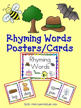 Rhyming Words Picture Cards and/or Posters