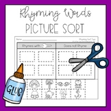 Rhyming Words Picture Sort (Cut & Paste)
