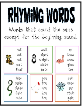 Worksheet Rhyming Words Examples rhyming words poster by copyless classroom teachers pay poster