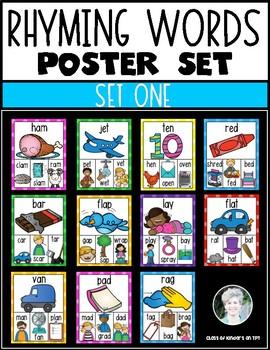 Rhyming Posters MEGA BUNDLE {Word Families} Kindergarten & First Phonics