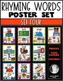 Rhyming Words Posters for Kindergarten & First Grade Reading ELA {Set Four}