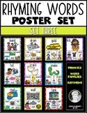 Rhyming Words Posters for Kindergarten & First Grade Reading ELA {Set Three}