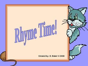 Rhyming Words Power Point Presentation
