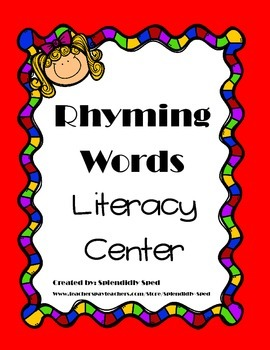 Rhyming Words Printable Activity for Kindergarten or First Grade
