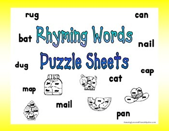 Rhyming Words Puzzle Sheets