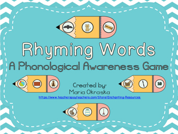 Rhyming Words Puzzles - A Phonological Awareness Game