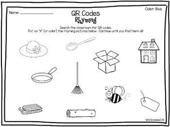 Rhyming Words QR Codes