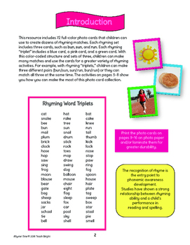 Rhyming Words (Learning Center with 72 photo cards)