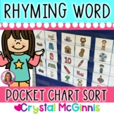 Rhyming Words! Rhyming Picture Cards Literacy Center Activity (32 Cards)