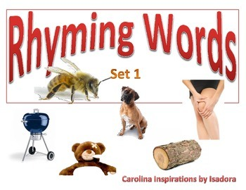 Photo-real Rhyming Words w/ worksheets Set 1