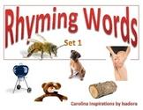 Photo-real Rhyming Words w/ worksheets Set 1