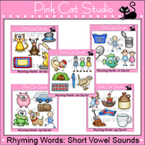 Rhyming CVC Words Short Vowel Sounds Clip Art Value Pack